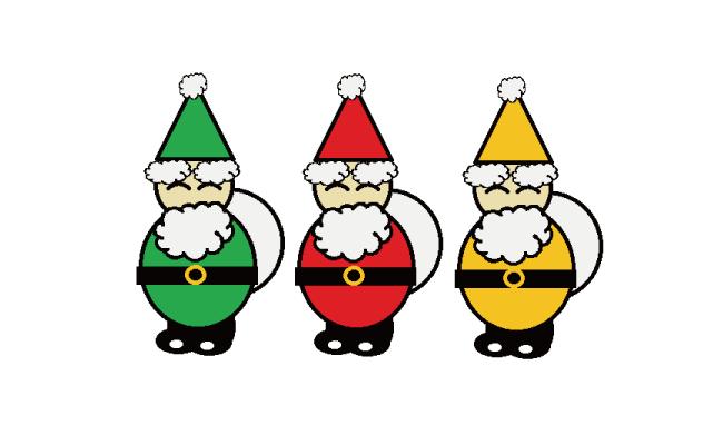 サンタさんを描いてみようクリスマスカードなどにいかが 超簡単