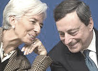 Christine Lagarde e Mario Draghi