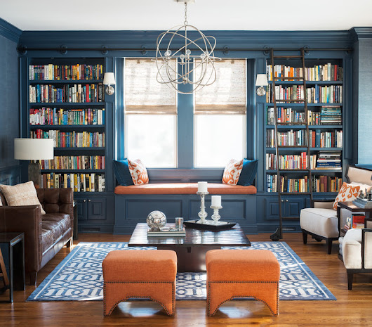 Pine Library - Transitional - Living Room - other metro - by Cory Connor Designs