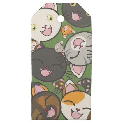 Kawaii Kitty - Custom Wooden Gift Tags