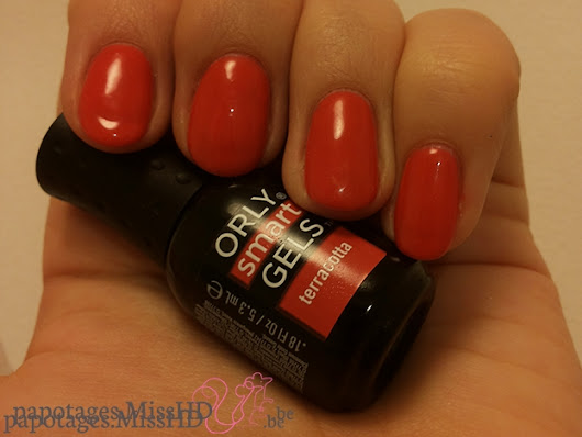 Vieilles photos qui trainent : Vernis gel Terracotta de Orly