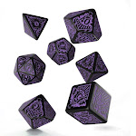 Call of Cthulhu Horror on the Orient Express Black & Purple Dice Set (7)