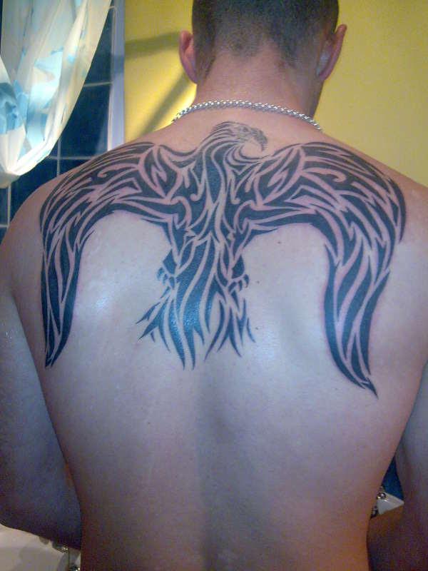 Tribal Eagle Wings Tattoo