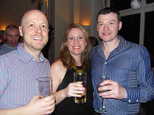 Stu, Jo and birthday boy Jonny