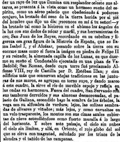 Leyenda de La Peña del Moro publicada en La Amérca por Eugenio de Olavarria y Huarte. Página 3