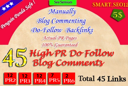 do manuall 45 dofollow and low OBL backlinks pr 2 to 6 - fiverr