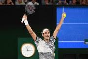 Roger Federer a verséquelques larmes juste après la... (PHOTO OHOTO WILLIAM WEST, AFP) - image 1.1