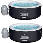Coleman SaluSpa 4 Person Portable Inflatable Outdoor Spa Hot Tub (2 Pack) 88935