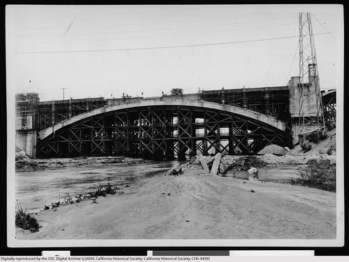4th Street Bridge over the Los Angeles River 1930 by AdamFromTheVillage