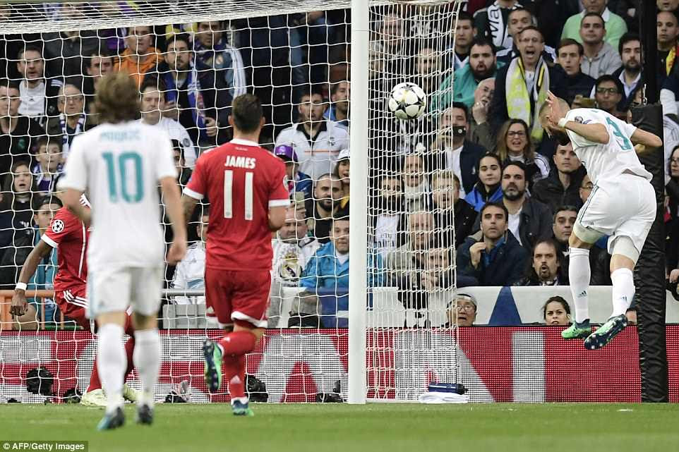 Benzema scored the first of his two goals with a close-range header from Marcelo's excellent cross after 11 minutes