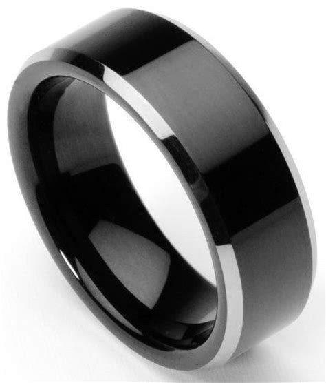 Men's Tungsten Ring/Wedding Band, Flat from Amazon   Things I
