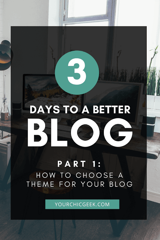 Three Days to a Better Blog: Choosing a Blog Theme for Wordpress - YourChicGeek