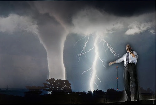 Obama Unleashes Tornadoes in Texas To Terrorize Christians, President Bush, Jesus and Chuck Norris