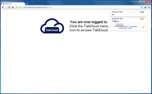 TabCloud Chrome Extension