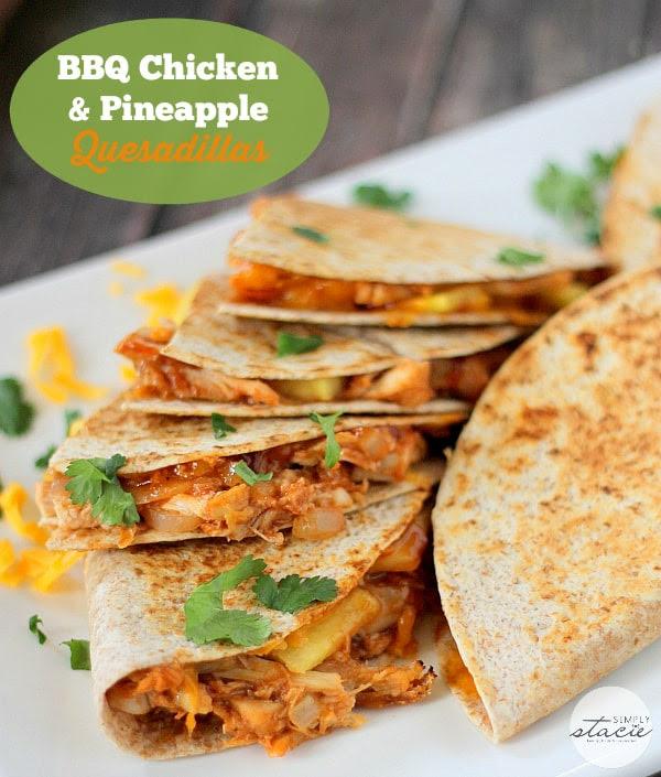 BBQ Chicken & Pineapple Quesadillas