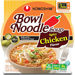 Nong Shim Bowl Noodle Soup, Spicy Chicken Flavor - 12 pack, 3.03 oz packages