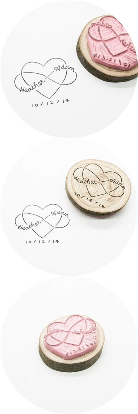 Handmade Rubber Stamp for Infinite Love   Wedding, Design