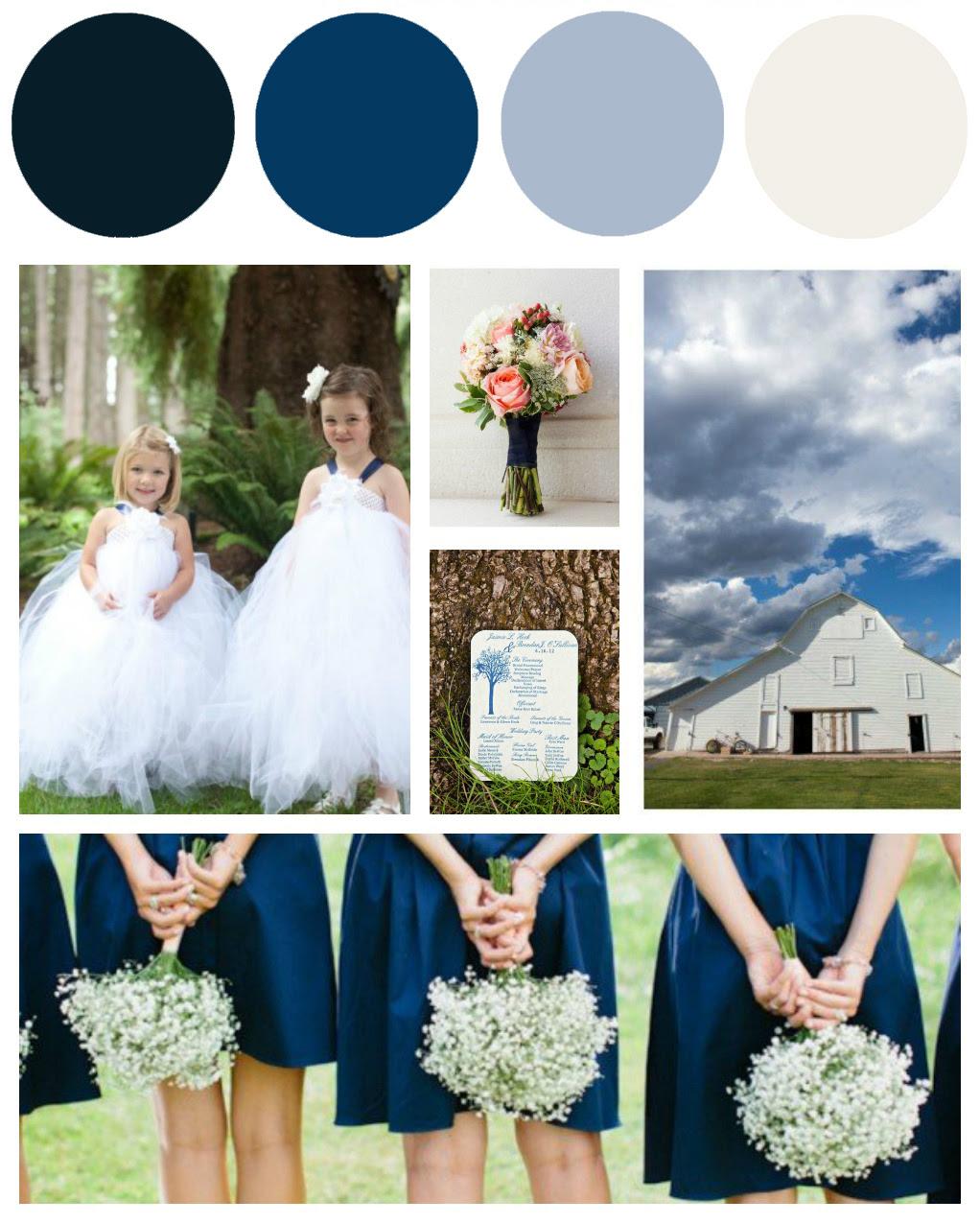 Blue & White Wedding Colors - Preppy Wedding Style