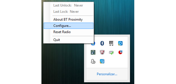 Abra o BTProximity e configure (Foto: Reprodução/Paulo Alves)
