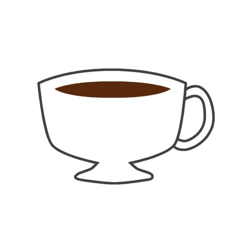 白いコーヒーカップの無料イラストオーフリー写真素材