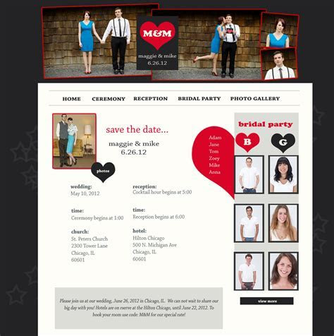 Chicago wedding websites ? gray and red wedding website