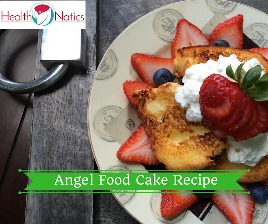 Broiled Angel Food Cake Recipe with Maple Whipped Cream - HealthNatics