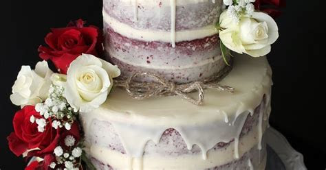 Delana's Cakes: Semi Naked Red Velvet Wedding Cake