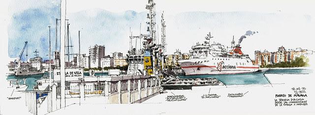 Málaga, harbour