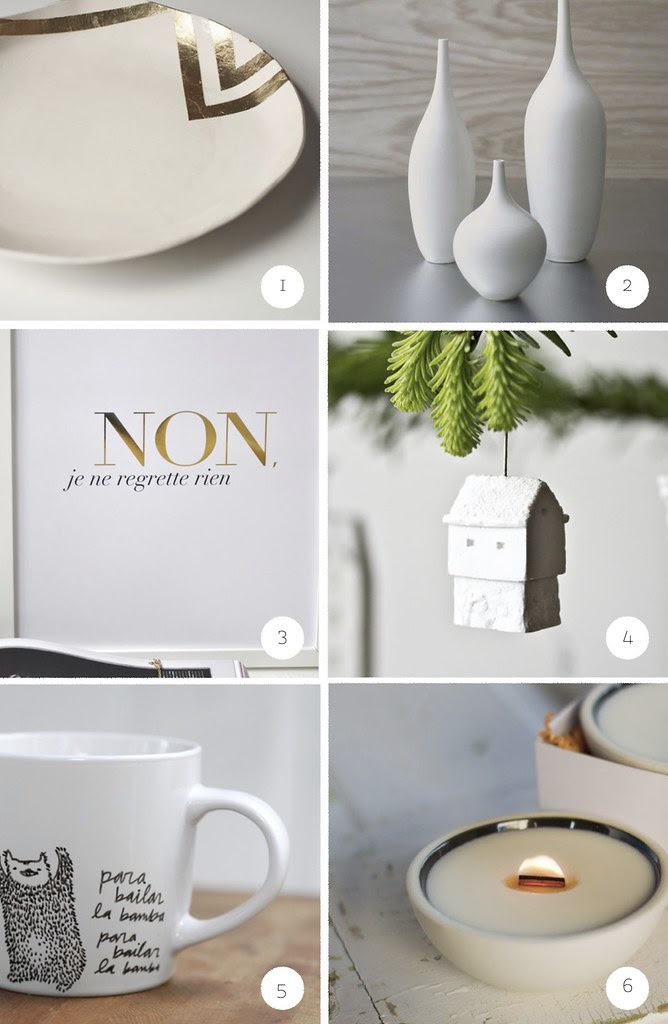 holiday gift guide - home - lovers of white