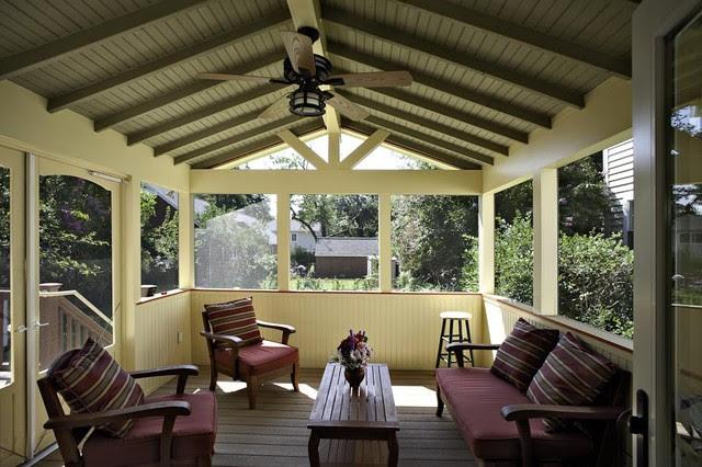 Arlington Craftsman-styled Screen Porch - exterior - dc metro - by ...