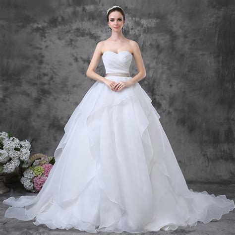 Strapless Sweetheart Ball Gown Low Back Organza Cheap