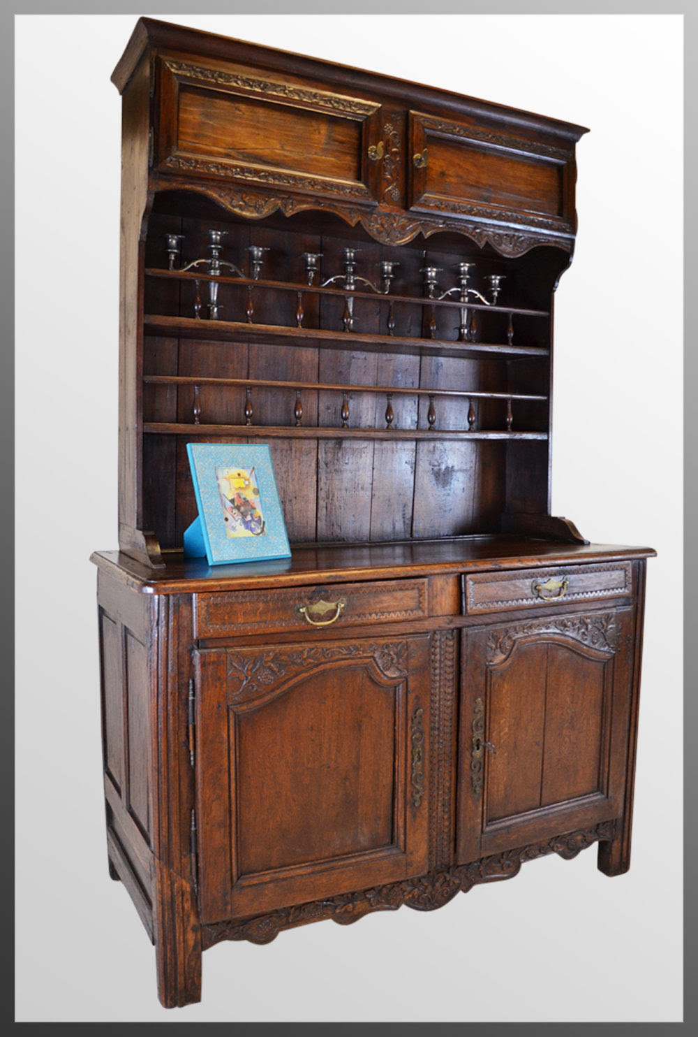 French Country Dresser Kitchen Buffet Cabinet - Antiques Atlas