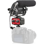Movo Cinema Bundle with Shotgun Condensor Video Microphone and 2-Channel Audio Mixer
