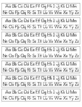 Print Cursive Letters - Scalien