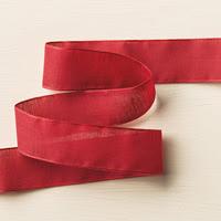 """Cherry Cobbler 1"""" Sheer Linen Ribbon"""