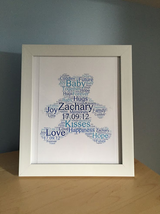 Word Cloud Gifts for Baby Showers
