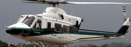 Helicóptero da Líder do modelo BELL 412, o mesmo que se acidentou na Bacia de Campos, RJ (1) (Foto: Reprodução/Site da Líder Aviação)