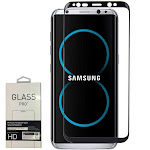 Samsung Galaxy S8 Plus - Full Edge 3D Colored Tempered Glass Screen Protector, Black