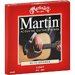 Martin Guitar Strings, Acoustic, 80/20 Bronze, Light