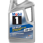 Mobil 1 High Mileage Advanced Full Synthetic Motor Oil - 4.73 L jug