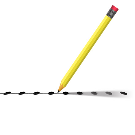 Pencil connecting the dots