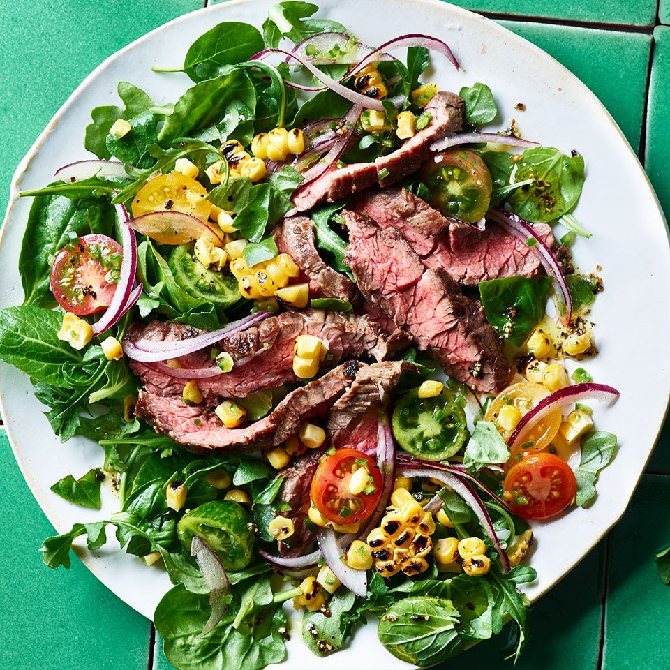 Grilled Skirt Steak with Corn-Tomato Relish