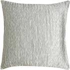 "Rizzy Home Throw Pillow, 18"" x 18"", Silver"