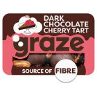 Image for Graze Deconstructed Dark Chocolate Cherry Tart 40g from Sainsbury's
