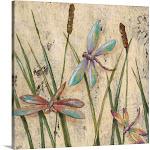 Dancing Dragonflies I | Canvas Wall Art | 20x20 | Great Big Canvas