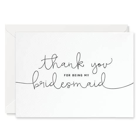 'Thank You For Being My Bridesmaid' Card ? Project Pretty