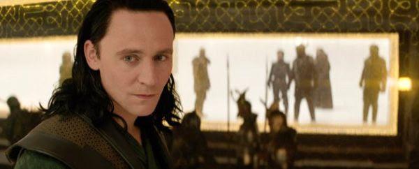 Loki (Tom Hiddleston) is amused as Asgard falls under attack in THOR: THE DARK WORLD.