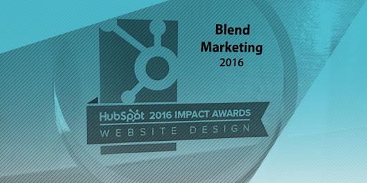 Blend Wins Website Design Grand Prize at HubSpot's Annual Impact Awards
