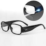 LED Sight Enhancing Glasses Bright Eyewear- No Magnification