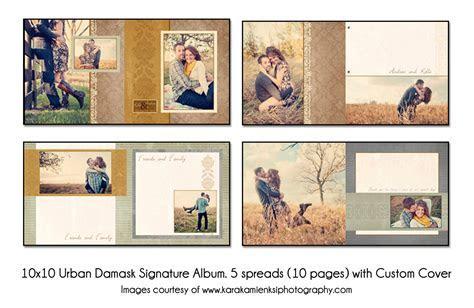 PSD Wedding Album Template   Urban Damask   12x12 Guest